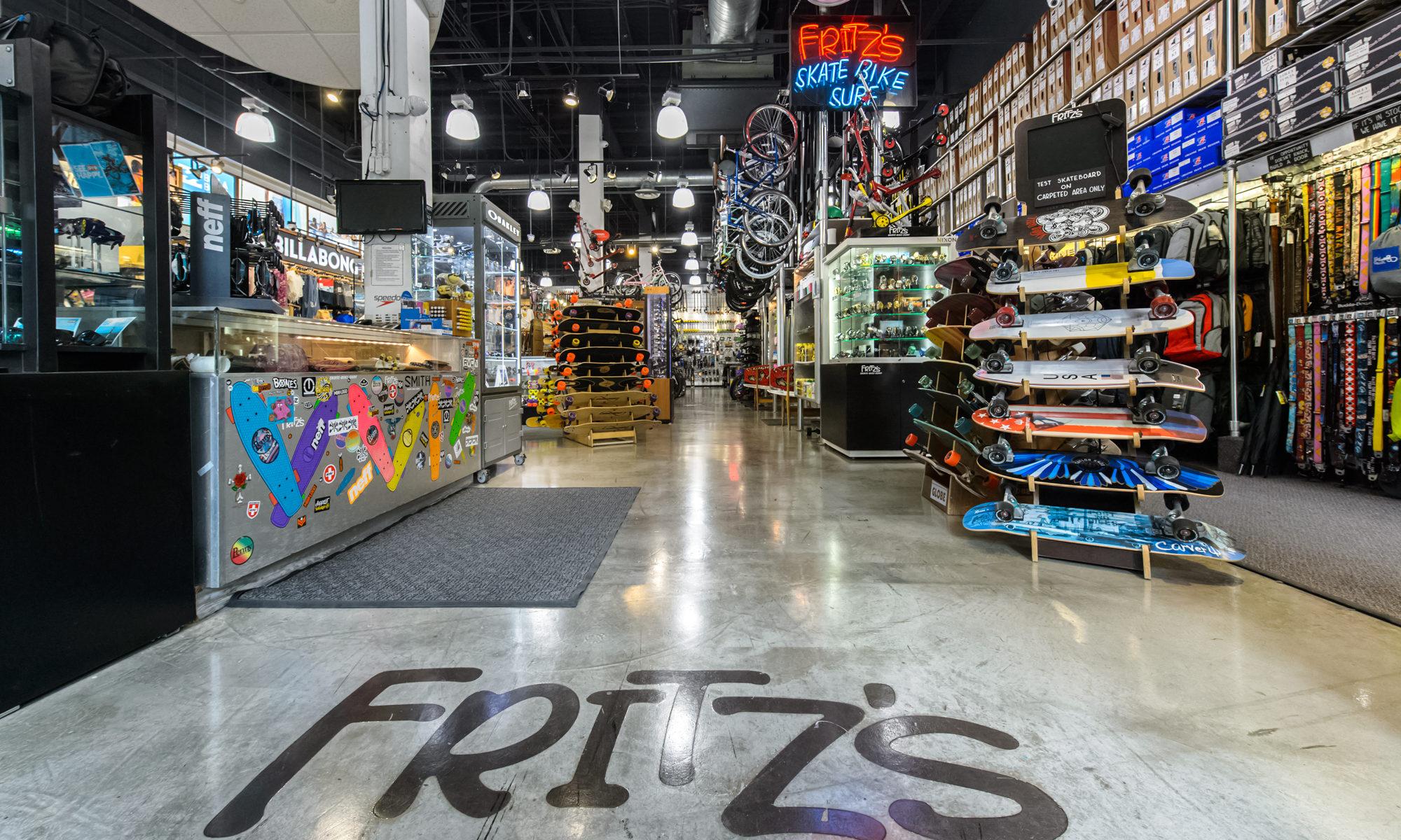 Fritz Skate Bike Surf Promo store front